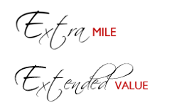 Extra Mile and Extended value
