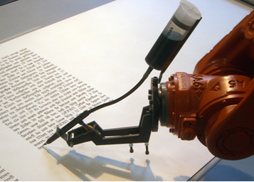 robot writing