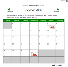 Make a date with Tax Calendar