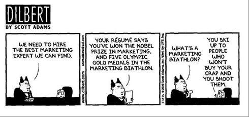 dilbert marketing cartoon