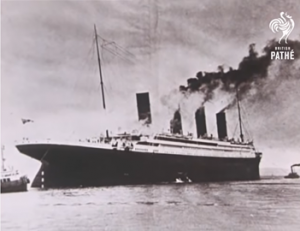 The Titanic was on fire for days before it sank